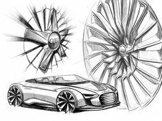 Audi e tron Spyder Wheels Design Sketch