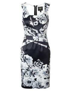 Lipsy V I P Printed Satin Shift Dress