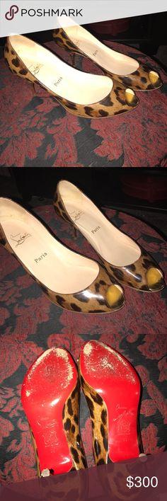 ✨CHRISTIAN LOUBOUTIN LEOPARD HEELS 👠✨ great condition!!!! Christian Louboutin Shoes Heels