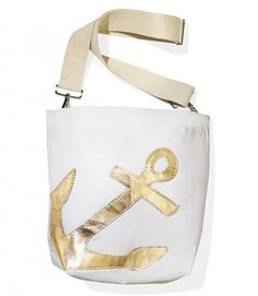 Gift Ideas  Sea Bags Metallic Anchor Courier Top Gifts 19e49e028f8ba
