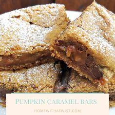Pumpkin Caramel Bars   Home with a Twist
