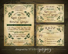Lord of the Rings Wedding Printable Invitation by StudioYniguez