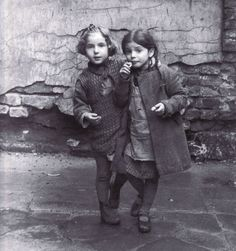 Two Little Jewish Girls, Warsaw 1935, by Roman Vishniac