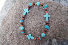 Rustic Cross Bracelet by bernsteinsusan on Etsy, $10.00