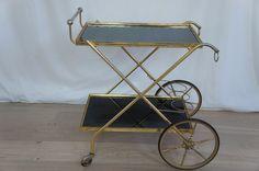 Vintage French Mid Century Drinks Trolley | eBay