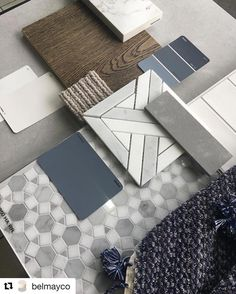 Just love this selection @belmayco 😍😍 Repost @belmayco with @repostapp ・・・ Sneak peak at our concept for our Yarraville clients. We are… #bathroomrenovations