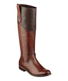 Dark Cognac & Brown Leather Devlin Boot