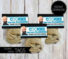 BOSS Baby Birthday Party PRINTABLE Folding Favor Tags- Instant Download | DreamWorks | The Boss Baby Movie | Cookies are for Closers by APartyPrintable on Etsy https://www.etsy.com/listing/538297964/boss-baby-birthday-party-printable