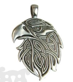 Eagle Pendant Celtic Ornament Ethnic Predatory by ISTAjeweler