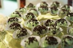 OREO Cool Mint Cookie Balls Recipe- if you love super sweet, then you will love these. I thought they were good, but too sweet for my taste. I will probably try and find something else to coat them in.