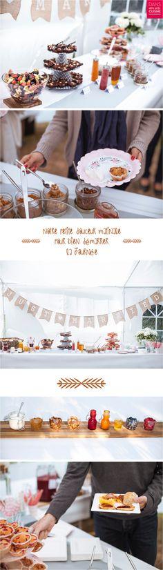 Buffet – brunch – brunch de mariage -  traiteur – chef à domicile – coloré – sur-mesure – Paris