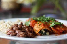 Homemade veggie enchiladas with quintoniles, corn, rajasandonion - The Mija Chronicles