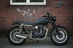 What're you lookin' at? Kawasaki W800 by Wrenchmonkees.