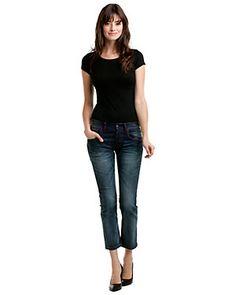 ESCADA SPORT 'Alex' Medium Blue Cropped Jean