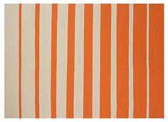 One Kings Lane - Rugs in a Rush - 5'x8' Cynthia Outdoor Rug, Orange