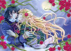 rose oscar andre love romantic anime wallpaper background