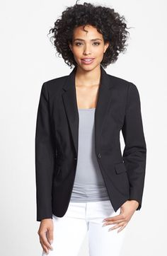 DRESS BLAZER    Vince Camuto Vince Camuto Stretch Cotton One-Button Blazer (Regular & Petite) available at #Nordstrom