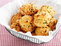 Almost-Famous Cheddar Biscuits recipe from Food Network Kitchen via Food Network