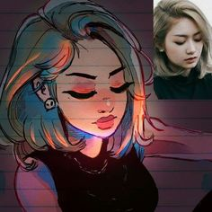 Gorgeous  style portrait by Toonimated  Shared by Veri Apriyatno Artist  ...