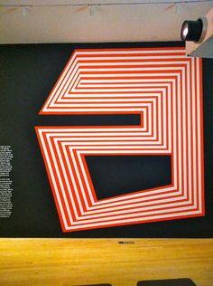 "Geometric A via @carolinetiger/ by Paula Scher, at the Philadelphia Museum of Art's ""Double Portrait"""