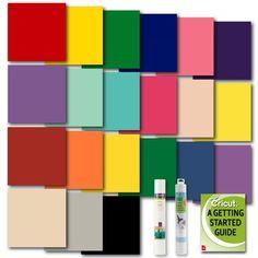 Cricut Everyday Iron On And Premium Adhesive Vinyl In Assorted Classic Colors Adhesive Vinyl Custom Vinyl Cricut Iron On Vinyl