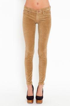 Velvet Skinny Jeans - Camel    Style #: 12988  $48.00