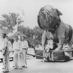 Check out this Homecoming Float circa 1932 at Fresno State College.