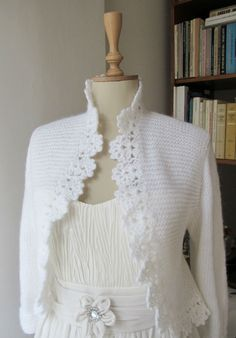 This cardigan has been made from mohair with knitting and crochet technique..This bolero can be bride accessory with wedding dress.You can use