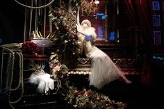 Christmas windows: Ralph Lauren Christmas window display on Old Bond Street