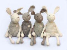 """Kuscheltiere """"Kleiner Heldhase"""" // stuffed animal, bunny by eineIdee via DaWanda"""