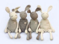 "Kuscheltiere ""Kleiner Heldhase"" // stuffed animal, bunny by eineIdee via DaWanda"