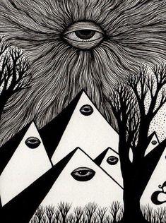 Eye in the sky art inspo, art visionnaire, occult art, eye art, Psychedelic Art, Art Sketches, Art Drawings, Art Visionnaire, Illustration Photo, Illustrations, Arte Obscura, Occult Art, Arte Sketchbook