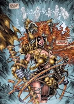Curse of spawn Angela is not exactly the same as normal.Its origin Angela with the horns.[Only 2 issues Comic Book Artists, Comic Book Characters, Marvel Characters, Comic Artist, Comic Character, Comic Books Art, Image Comics Characters, Spawn Comics, Arte Dc Comics