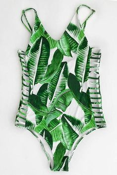 Cupshe Banana Leaves Print One-piece Swimsuit #swimwear
