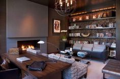 Hot Trend: 40 Gorgeous Ideas for a Sizzling Home Office with Fireplace