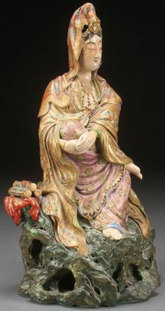 JAPANESE SATSUMA POTTERY FIGURE, MEIJI PERIOD : Japanese AntiquesMore Pins Like This At FOSTERGINGER @ Pinterest
