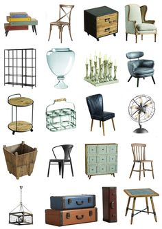 Vintage furniture | #moodboard #vintage #furniture #industrial
