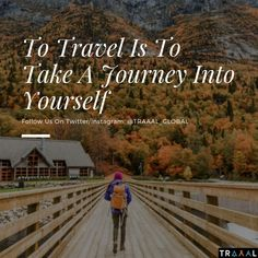 """""""To #Travel is To Take A #Journey Into Yourself"""" (^_^)  #FollowUs and #StayTuned \m/  #travelquote #motivation #quotestoliveby #life #startups #photography #quotes #vacation #adventures #business #onlinetravelagency #nature #beauty #joy #solo #discoveryourself #find #search #ota #subscribe #travellers #ilovetravel #tourists #world #trees #trips"""