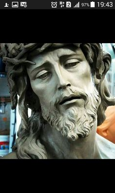 Bird Sculpture, Sculptures, Eyes Looking Down, Jesus Drawings, Angel Tattoo Designs, Jesus Christ Images, Jesus Face, In Christ Alone, Sketch Inspiration