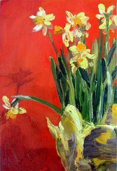 """Daffodils"" - Original Fine Art for Sale - © Gail Risner"