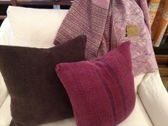 overdyed grainsack???? love!!!!    LOVE, the pillows and this Acantha!!!  Gorgeous!!!!!!  Cisco Home -