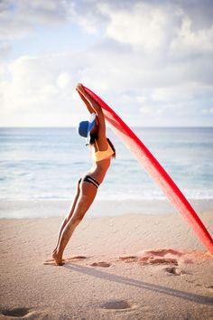 cd2e90f85dd surf board stretch! Surfing Girls