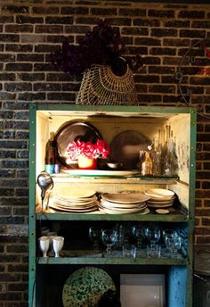 What if we repainted the black bookshelf and used IT in the kitchen?