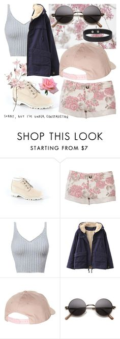 """""""Sorry, but I'm under construction"""" by aaronhainsley ❤ liked on Polyvore featuring Timberland, Chicnova Fashion and Billabong"""