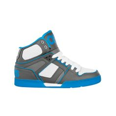 Shop for Mens Osiris NYC 83 Ultra Skate Shoe in Grey White Turquoise at Journeys Shoes. Shop today for the hottest brands in mens shoes and womens shoes at Journeys.com.High-top skate shoe from Osiris featuring a leather upper with bright blue accents and a padded tongue and collar for comfort. Available exclusively at Journeys! Please note that this shoe runs small; please order one size up.