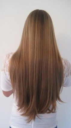 Lovely brown straight hair #straighthair Want Now!!!