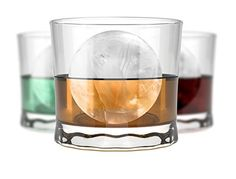 """Amazon.com: Lucentee X-tra Large Ice Ball Maker - Silicone Mold That Creates 4x2"""" Ice Spheres For Whisky Lovers: Kitchen & Dining"""