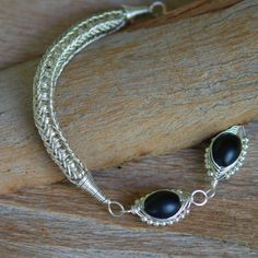 Three-eyed Viking Knit Sterling Silver Bracelet  by NeroliHandmade