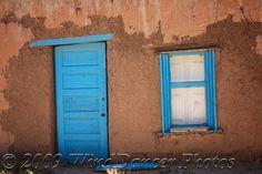New Mexico Blue Door  -Blue and Blue - Fine Art Photograph. $15.00, via Etsy.