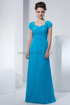 Blue Victorian Style Modest Dress. I LOVE this! So long and modest! Will be my bridesmaid dresses!